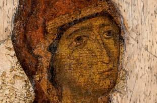 """Икона XII века """"Богоматерь Боголюбская"""". 100 лет исследований - ответы реставрации""""."""