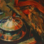"2. Тимошенко Лидия ""Натюрморт с дятлом"" 1925 Холст, масло 44х57"