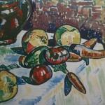 """4. Тимошенко Лидия """"Натюрморт с морковью"""" 1925 Бумага, акварель 37х39"""