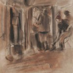 "Александр Лабас ""Из серии «Метрострой». Шахта №29"" 1933"