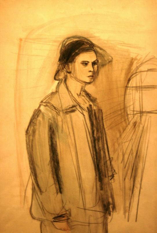Александр Лабас «Из серии «Метрострой». Работница Метростроя» 1932