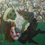 """Инна Энтина """"Автопортрет в виде Пьерро"""" 1990-е"""