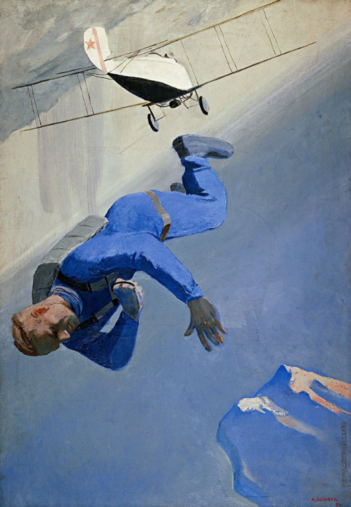 Александр Дейнека «Парашютист над морем» 1934