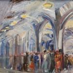 """Александр Лабас """"Москва. В метро"""" 1940-е"""