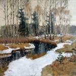 """Станислав Жуковский """"Ранняя весна"""" 1900-е"""