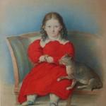 """Леопольд Шульц """"Портрет Анны Бельмонт"""" 1830-е"""