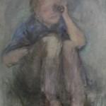 "7. Утенкова-Тихонова Елена ""Бинокль"" 2008 Холст, масло 70х60"