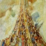 "Александр Лабас ""В метро"" 1972"