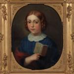 """Т.Л-А.Шепкинс """"Портрет дочери художника с книгой"""" 1852"""