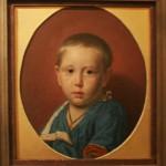 """Николай Неврев """"Портрет мальчика на красном фоне"""" 1859"""