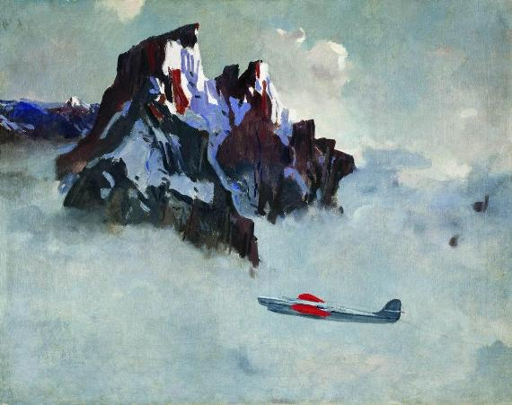 Александр Дейнека «В воздухе» 1932