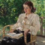 """Александр Герасимов """"Портрет дочери"""" 1951"""