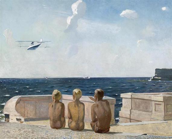 Александр Дейнека «Будущие летчики» 1938