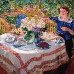 """Александр Герасимов """"В саду. Портрет Н.Гиляровской"""" 1913"""