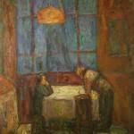 "16. Табенкин Илья ""Интерьер"" 1961 Холст, масло 74,5х85"