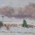 """Александр Герасимов """"Из окна вагона"""" 1949"""