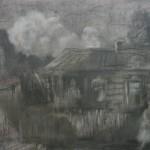 "18. Утенкова-Тихонова Елена ""По улице"" 2001 Бумага, пастель 50х70"
