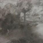 "22. Утенкова-Тихонова Елена ""За оградой"" 2005 Бумага, пастель 55х75"