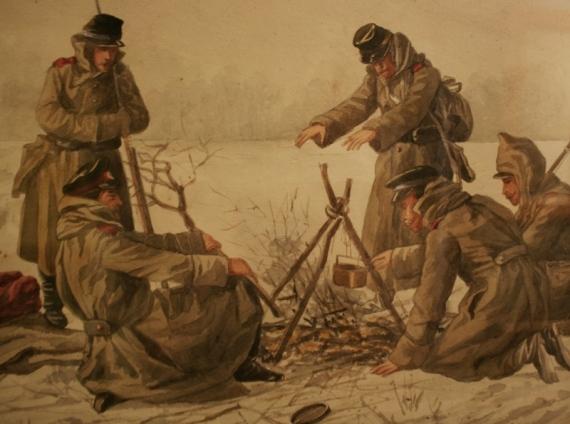 """Василий Верещагин """"Привал"""" 1870 (фрагмент)"""