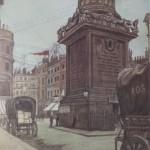 """17. Добужинский Мстислав """"Лондон. Монумент"""" 1906 Бумага, графитный карандаш, акварель, белила 33,3х29,3 Частное собрание"""