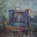 "12. Григорьева Екатерина ""Слон"" 1970 Холст, масло 90х95"