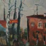 """4. Григорьева Екатерина """"Красный дом"""" 1968 Холст, масло 92х74"""