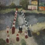 "6. Григорьева Екатерина ""Мост"" 1968 Холст, масло 60х80"