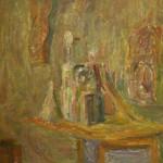 """1. Лукашевкер Александра """"Абельмановская застава. В мастерской"""" 1968 Холст, масло 60х72"""