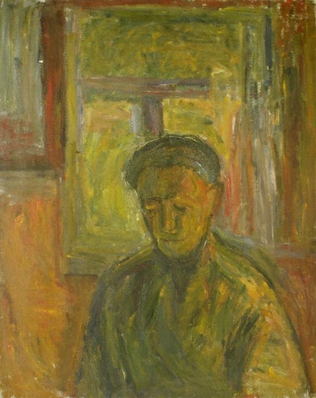 """2. Лукашевкер Александра """"Абельмановская застава. Портрет отца"""" 1962 Холст, масло 75х60"""