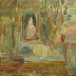"""3. Лукашевкер Александра """"Абельмановская застава. Натюрморт с зеркалом"""" 1970-е Холст, масло 43х58,5"""