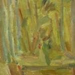 "31. Лукашевкер Александра ""Калистово. Букет на окне. Этюд"" 1974 Оргалит, масло 56,5х39,5"