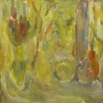 "34. Лукашевкер Александра ""Калистово. Натюрморт на окне"" 1974 Холст, масло 42х49"