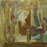 "42. Лукашевкер Александра ""Лианозово. Интерьер с кувшином"" 1976 Холст, масло 44х60"