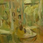 """44. Лукашевкер Александра """"Лианозово. Вид из окна"""" 1974 Холст, масло 65х80"""