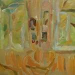 """45. Лукашевкер Александра """"Лианозово. Интерьер"""" 1970-е Холст, масло 28х45"""