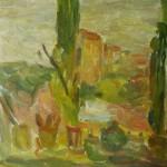 """5. Лукашевкер Александра """"Абельмановская застава. Натюрморт на окне"""" 1970-е Холст, масло 59х49"""