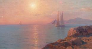 Алексей Ганзен. Восход солнца на море.