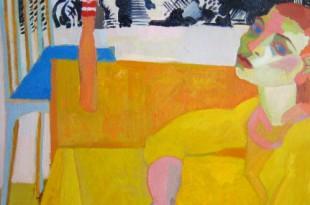 Инна Энтина. Портрет в интерьере с часами.
