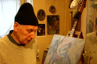 В мастерской художника. Евгений Гинзбург.