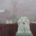 Ольга Давыдова «Парк СССР в г.Тутаев. Женщина с корзиной» Часть полиптиха