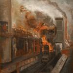 """Давид Девинов-Нюренберг """"Индустриальный пейзаж"""" 1923"""