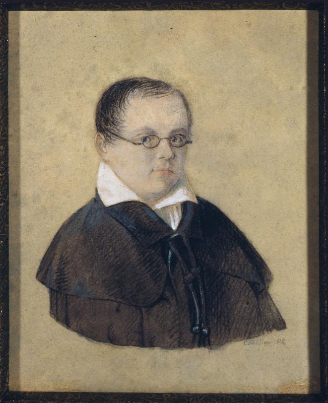 """К.Шлезигер """"Портрет А.А.Дельвига"""" 1827"""