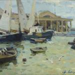 """Ф.Захаров """"В порту, Ялта"""" 1960-е"""