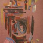 """Тамара Шиловская """"Интерьер моей комнаты (шкаф)"""" 1987"""