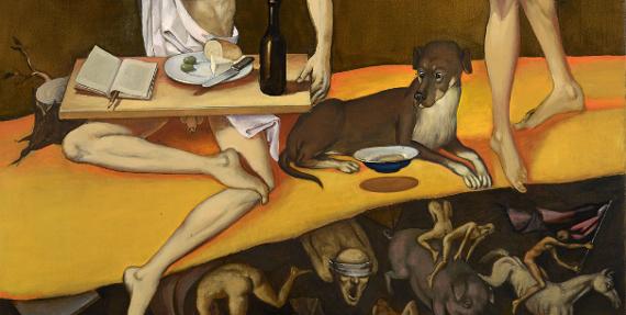 Виктор Пивоваров «Философская собака» 2015 (фрагмент)