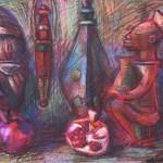 """Нина Зотова """"Африканский натюрморт с гранатами"""""""