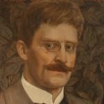 """Н.Чернышев """"Портрет Кнута Гамсуна"""" 1913"""