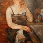 """Давид Девинов-Нюренберг """"Модель в чёрных чулках"""" 1931"""