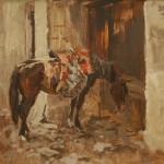 """Виктор Цигаль """"Лошадь под седлом"""" 1957"""
