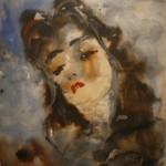 """Анатолий Зверев """"Портрет И.Костаки"""" Конец 1950-х"""
